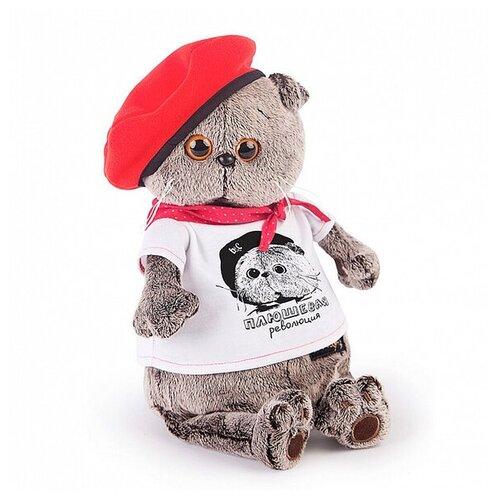 Басик и Ко Мягкая игрушка «Басик. Плюшевая революция», в футболке с принтом, 19 см