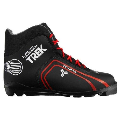 Trek Ботинки лыжные TREK Level 2 SNS, цвет чёрный, лого красный, размер 37