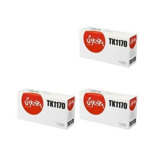 Sakura SATK1170-3PK Картриджи комплектом TK-1170 черный 3 упаковки, совместимый [выгода 3%] Black 21К для Ecosys M2040dn M2040, M2540dn M2540, M2640idw M2640