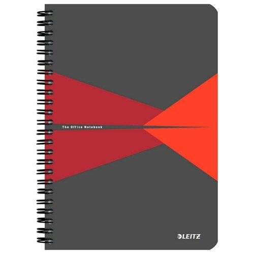 Купить Бизнес-тетрадь Office Card, А5, обложка картон, клетка, красный 44580025, Leitz, Тетради