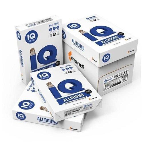 Бумага для офисной техники IQ Allround (А4, 80 г/кв.м, белизна 162% CIE, 500 листов), 5 шт