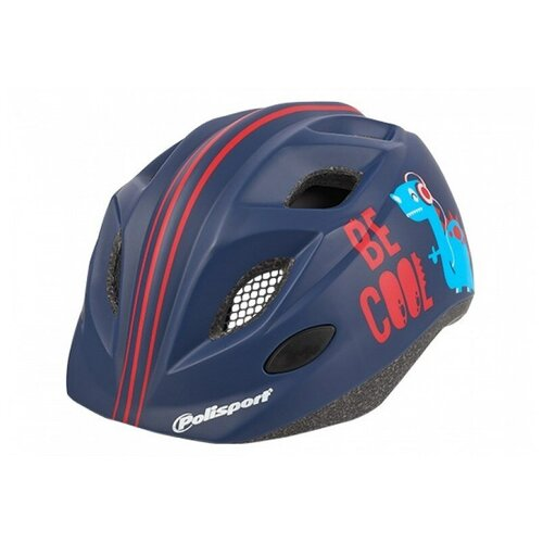 Фото - Велошлем детский Polisport JUNIOR BE COOL S (52-56 cm) Темно-Синий крылья комплект 20 24 polisport colorado junior