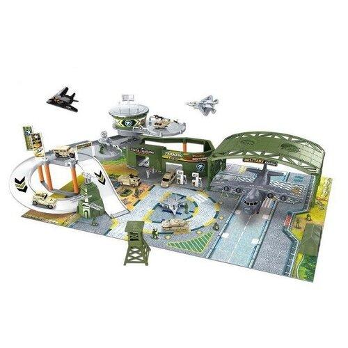 Купить Паркинг Junfa Военный аэродром , Собери сам, (самолеты, военная техника, аксессуары), в коробке (P838-A), Junfa toys, Машинки и техника