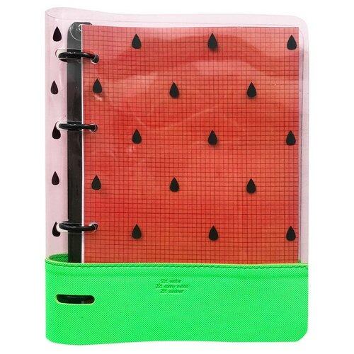 Купить Бизнес-тетрадь Infolio А5 120л, клетка, кольца, пластик. Watermelon N1827, Тетради