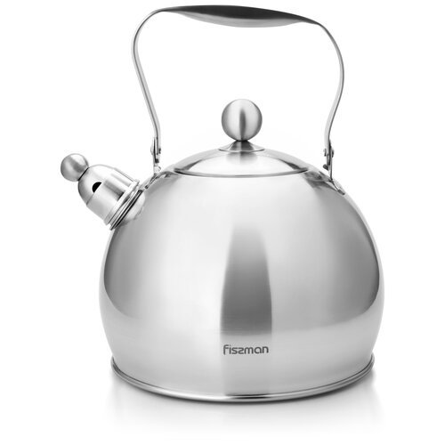 Fissman Чайник со свистком ADELE 3.5 л, серебристый