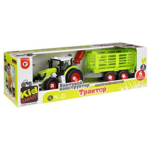Конструктор Ningbo Union Vision Kid Smart На ферме KM-283B Трактор с клетью конструктор ningbo union vision нло yj188170486