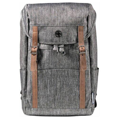 рюкзак женский tatonka magpie для учебы и работы цвет темно серый 17 л Рюкзак Wenger 16'', темно-серый, полиэстер, 29 x 17 x 42 см, 16 л 605025