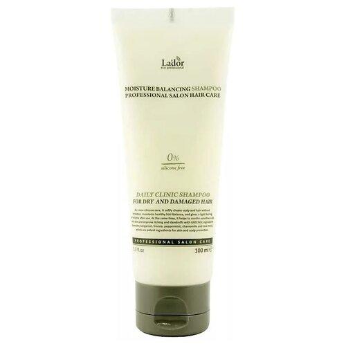 Фото - La'dor шампунь для волос Moisture Balancing увлажняющий для сухих и поврежденных волос, 100 мл активное мумиё увлажняющий шампунь для поврежденных волос 330 мл