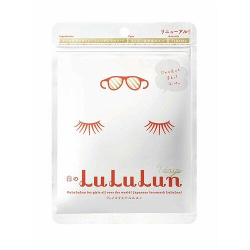LuLuLun тканевая маска Face Mask White увлажняющая и улучшающая цвет лица, 125 г, 7 шт. недорого