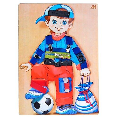 Бизиборд Деревянные игрушки Алешка голубой/красный