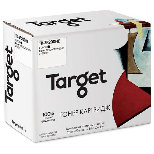 Фото - Тонер-картридж Target SP200HL, черный, для лазерного принтера, совместимый картридж target fx3 черный для лазерного принтера совместимый