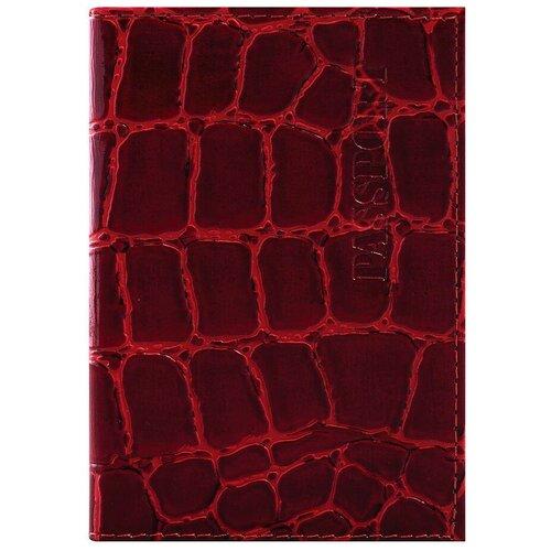 Обложка для паспорта BRAUBERG 237180, красный