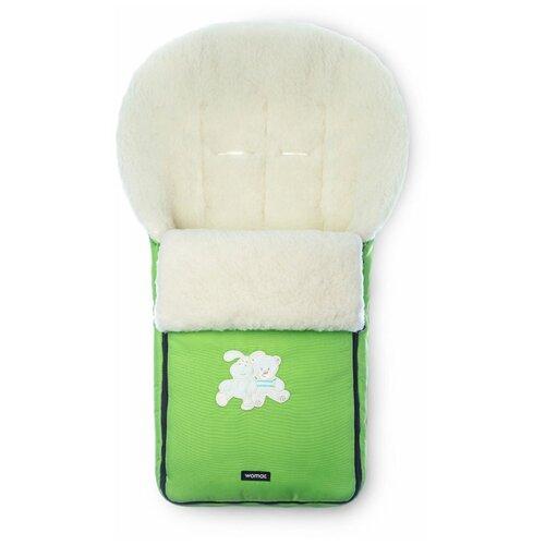 Конверт-мешок Womar Aurora в коляску 95 см зеленый