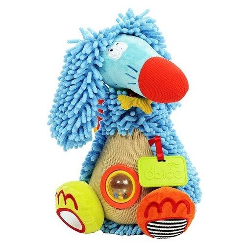 Развивающая игрушка Dolce Дикая Собачка, бежево-голубой развивающая игрушка dolce попугайчик бело красно голубой