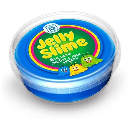 Лизун Master IQ² Jelly Slime с блестками синий
