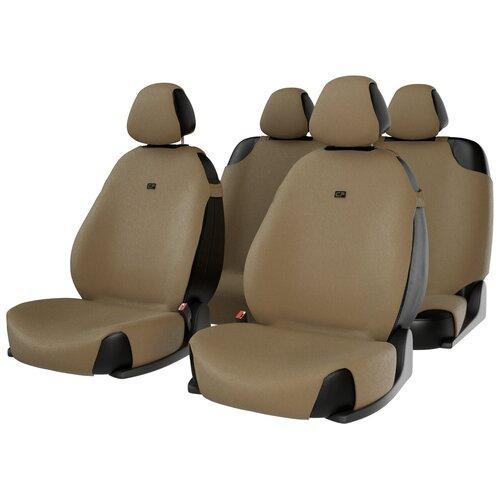 Комплект накидок на автомобильные сиденья CarFashion FORUM бежевый