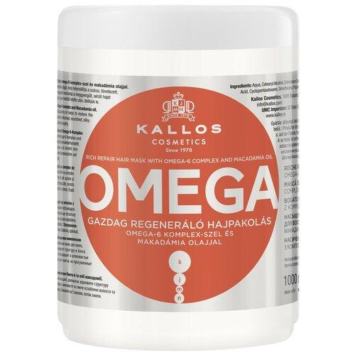 Купить Kallos KJMN Маска для восстановления волос с комплексом полинасыщенных жирных кислот Omega, 1000 мл