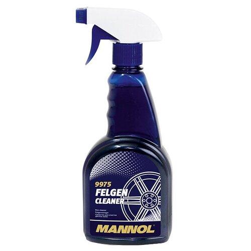 Очиститель колесных дисков Mannol Felgen Cleaner 9975, 500 мл 1 шт. mannol очиститель салона и кузова автомобиля mannol 9972 universal cleaner 0 5 л