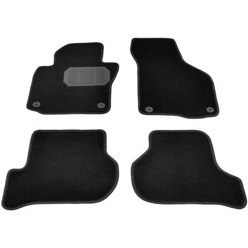 Комплект ковриков салона NorPlast NPL-VTe-810-420 для Skoda Octavia 4 шт. чёрный