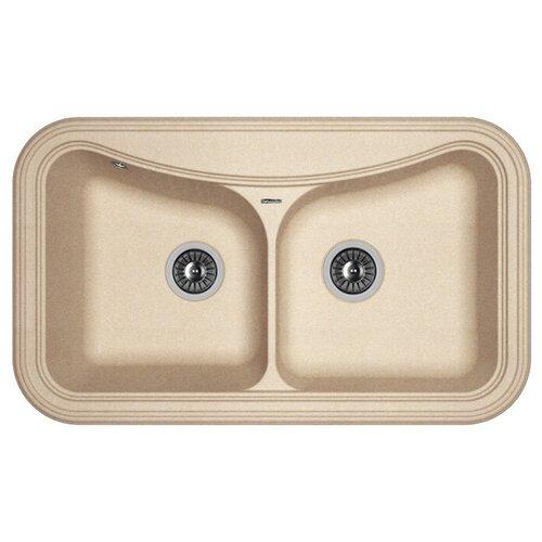 Врезная кухонная мойка 86 см FLORENTINA Крит-860 FG песочный врезная кухонная мойка 86 см florentina крит 860 fs бежевый