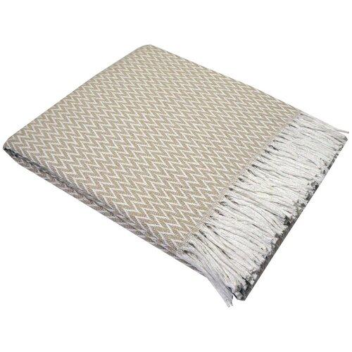 Плед Валенсия - 140х200 см - Цвет: белый-песок (Антонио)