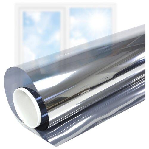 Пленка самоклеящаяся на окно солнцезащитная зеркальная Silver 35 - комплект на двухстворчатое окно