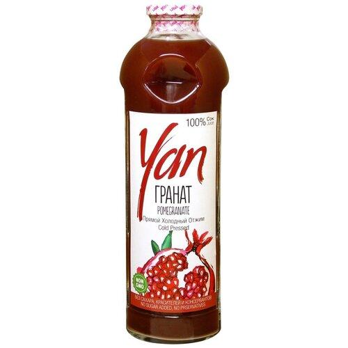 Фото - Сок Yan прямого отжима Гранат, без сахара, 0.93 л без брэнда сок яблочный без сахара yan