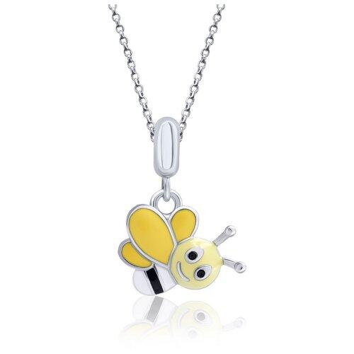 UMa & UMi Детский серебряный кулон подвеска Веселая пчелка UMI Fly 319565500605