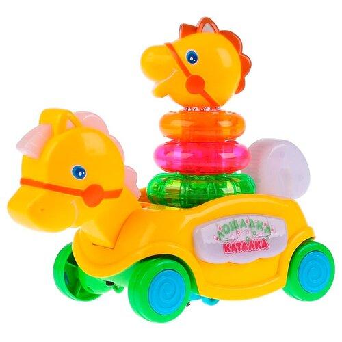 Купить Каталка-игрушка Умка Лошадка (B876678-R) желтый, Каталки и качалки