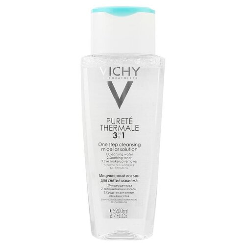 Vichy мицеллярный лосьон Purete Thermale для снятия макияжа, 200 мл