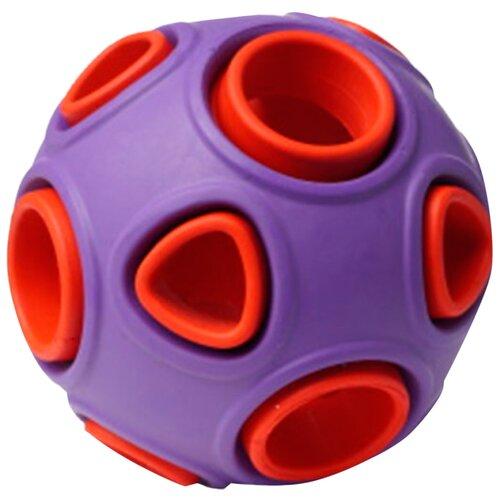 Игрушка для собак Homepet Silver Series мяч каучук фиолетово-красный 7,5 см (1 шт)