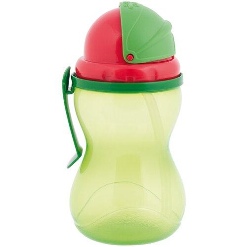 Фото - Поильник с трубочкой Canpol Babies 56/113, 370 мл зеленый поильник непроливайка canpol babies 4 113 360 мл зеленый