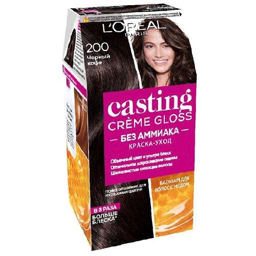 Купить L'Oreal Paris Casting Creme Gloss стойкая краска-уход для волос, 200, Черный кофе