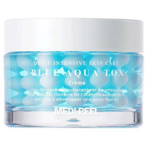 MEDI-PEEL Blue Aqua Tox Creme Крем для глубокого увлажнения кожи лица, 50 мл medi peel 5gf bor tox peptide ampoule сыворотка для лица с эффектом ботокса 30 мл