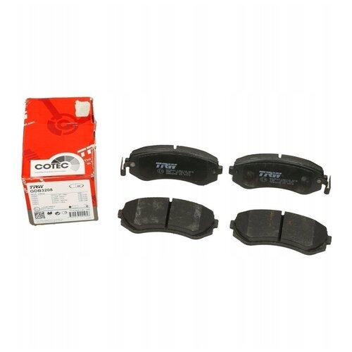 Дисковые тормозные колодки передние TRW GDB3208 для Nissan Almera, Nissan Patrol, Nissan Sunny (4 шт.)
