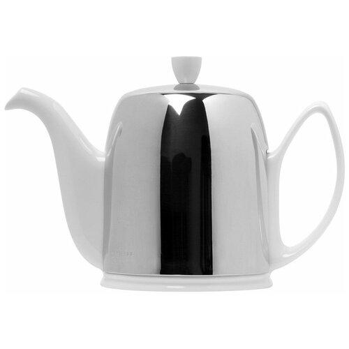 Фото - Чайник заварочный Salam White (1.5 л), с колпаком, на 8 чашек 211990 Guy Degrenne чайник заварочный salam white 0 37 л с колпаком с ситечком на 2 чашки 211987 guy degrenne