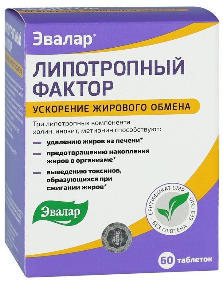 Липотропный фактор таб. п/о 1,2г №60 — цены на Яндекс.Маркете