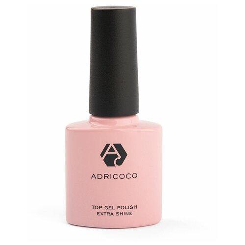 Купить ADRICOCO верхнее покрытие Top Gel Polish Extra Shine без липкого слоя 8 мл прозрачный