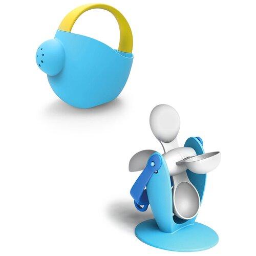 Купить Набор игрушек для песочницы: Мягкая лейка большая голубая арт.16076 + Мягкое водное колесо №1 голубое арт.16057, Биплант, Игрушки для ванной