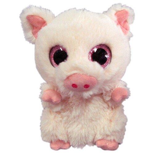 Мягкая игрушка Yangzhou Kingstone Toys Свинка светло-розовая 15 см