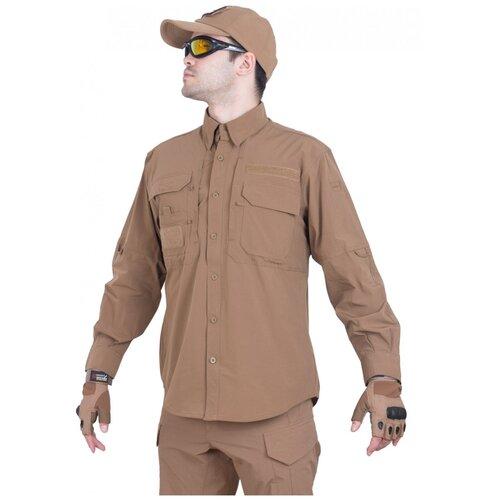Рубашка тактическая мужская GONGTEX TRAVELLER SHIRT, нейлон, цвет Койот (Coyote)-XXL