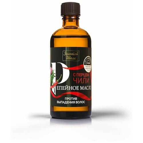 Фото - Золотой шелк Репейное масло с Перцем Чили против выпадения волос, 100 мл ароматика репейное масло против выпадения волос 100 мл