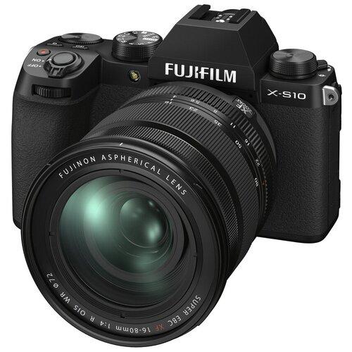 Фото - Фотоаппарат Fujifilm X-S10 Kit черный Fujifilm XF 16-80mm f/4 R OIS WR цифровой фотоаппарат fujifilm x pro3 body dr silver