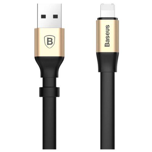 Фото - Кабель Baseus 2 in 1 Portable USB - Lightning/microUSB (CALMBJ) 0.23 м, черный/золотистый кабель baseus yiven 2 1 usb microusb lightning camlyw 1 м черный золотистый