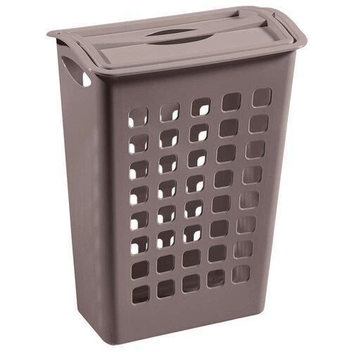 корзина для мусора бытпласт 10л диаметр 256 мм высота 280 мм КОРЗИНА ДЛЯ БЕЛЬЯ С ПОВОРОТНОЙ КРЫШКОЙ 430*260*580 ММ (1/6) БЫТПЛАСТ