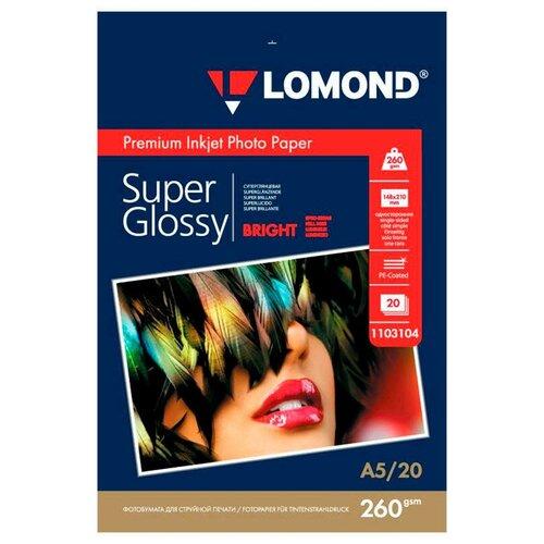 Фото - Бумага Lomond A5 Premium Photo Paper 1103104 260 г/м² 20 лист., ярко-белый бумага lomond a4 premium photo paper 1104101 280 г м² 20 лист белый