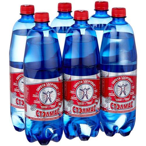 Вода минеральная Стэлмас Mg+ газированная, ПЭТ, 6 шт. по 1 л минеральная вода borjomi газированная пэт 6 шт по 1 л