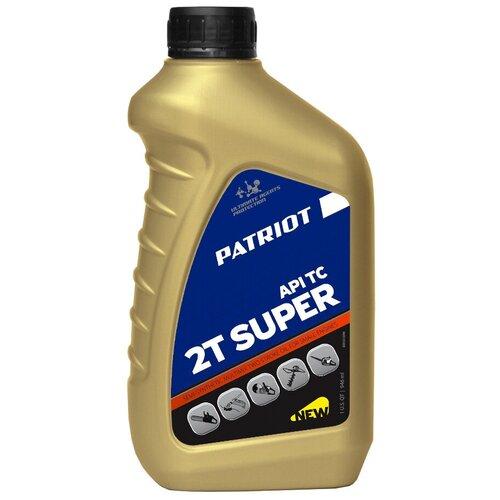 Масло для садовой техники PATRIOT Super Active 2T, 0.946 л масло patriot super active 2t 0 946л 850030596