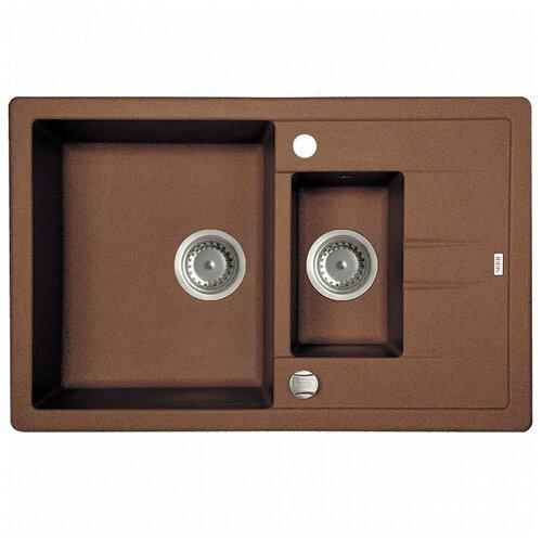 Врезная кухонная мойка 78 см IDDIS Vane G V34C785i87 шоколад кухонная мойка шоколад iddis vane g v34c785i87