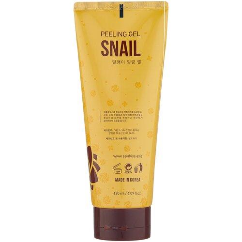 Фото - Asiakiss Пилинг гель Snail Peeling Gel с экстрактом слизи улитки 180 мл jigott гель пилинг для лица black snail с экстрактом слизи улитки 180 мл